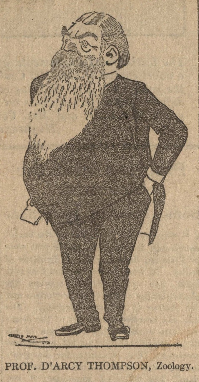 Caricature of D'Arcy Wentworth Thompson